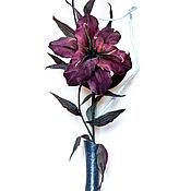 """Цветы и флористика ручной работы. Ярмарка Мастеров - ручная работа Интерьерная лилия """"Мапира"""".Цветы из шелка, цветы из ткани.. Handmade."""