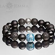 Украшения handmade. Livemaster - original item Bracelet men`s 12mm beads MIX with coral bead 13mm. Handmade.