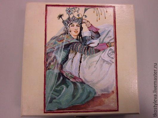 """Шкатулки ручной работы. Ярмарка Мастеров - ручная работа. Купить Шкатулка """"Восточная принцесса"""". Handmade. Белый, ручная авторская работа"""