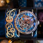 Украшения ручной работы. Ярмарка Мастеров - ручная работа Новогодние стимпанк часы. Handmade.