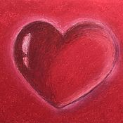 Картины и панно handmade. Livemaster - original item Oil pastel painting of a heart with the 3 D effect