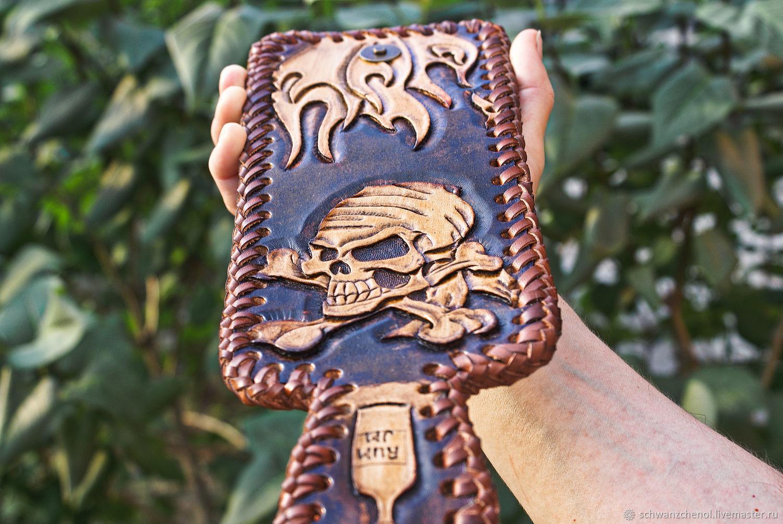 Men's handmade leather wallet, Wallets, Krasnodar,  Фото №1