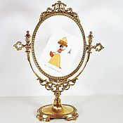 Винтаж handmade. Livemaster - original item Brass frame for mirror or photo, Italy.. Handmade.