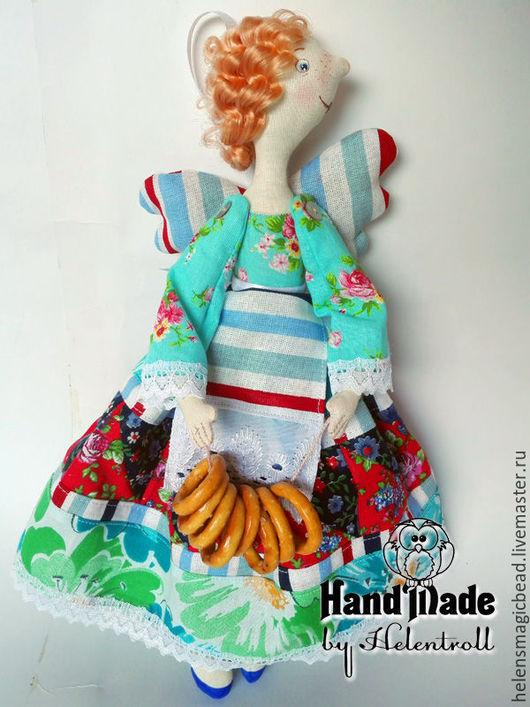 Коллекционные куклы ручной работы. Ярмарка Мастеров - ручная работа. Купить Кухонная феечка Баранкина. Handmade. Голубой, кухонный декор