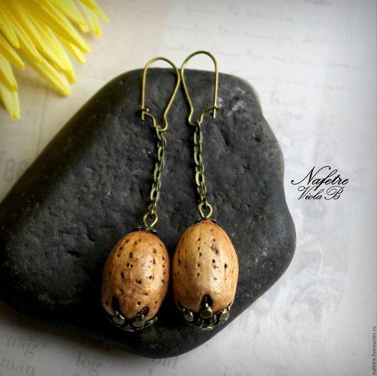 Серьги ручной работы. Ярмарка Мастеров - ручная работа. Купить Серьги дерево, серьги в эко стиле, серьги стильные. Handmade.