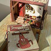 """Блокноты ручной работы. Ярмарка Мастеров - ручная работа Необычный короб для специй + кулинарный блокнот """"Рецепты счастья"""". Handmade."""