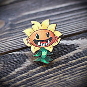 Украшения handmade. Livemaster - original item Wooden icon is a Sunflower. Handmade.