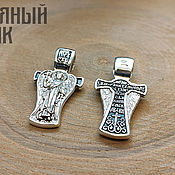 Украшения handmade. Livemaster - original item Pendant angel on the Cross. Prayer Silver 925 art. One million sixty one thousand four hundred eleve. Handmade.