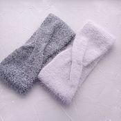 Аксессуары handmade. Livemaster - original item Knitted fluffy headband. The choice of color. Handmade.