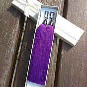 """Украшения ручной работы. Ярмарка Мастеров - ручная работа Серьги-кисти """"Фиолетовый шелк"""". Handmade."""