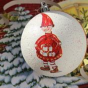 Наборы ручной работы. Ярмарка Мастеров - ручная работа Гном Новогодний елочный шар Новогодняя игрушка на елку. Handmade.
