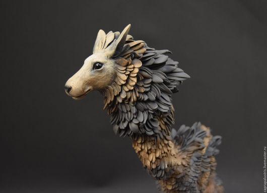 Игрушки животные, ручной работы. Ярмарка Мастеров - ручная работа. Купить Чёрный зверь II. Handmade. Животное, фигурка, лев