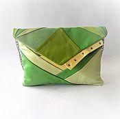 """Сумки и аксессуары ручной работы. Ярмарка Мастеров - ручная работа Сумочка """"Donna greenery"""",сумка зеленая,яркая,летняя,клатч зеленый. Handmade."""