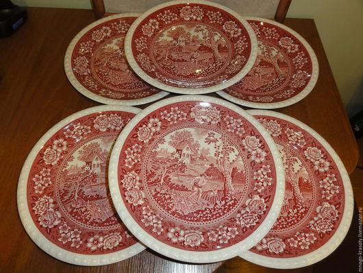 Винтажная посуда. Ярмарка Мастеров - ручная работа. Купить Комплект из 6 больших тарелок Villeroy & Boch Rusticana. Handmade.