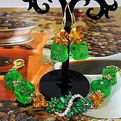 Bead bracelet handmade. Livemaster - original item BRACELET EARRING