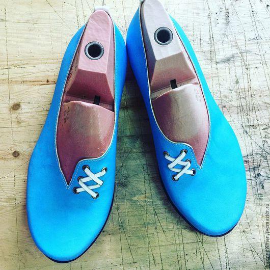 """Обувь ручной работы. Ярмарка Мастеров - ручная работа. Купить Ботинки Anton Newman """"777"""". Handmade. Бирюзовый, кожа"""