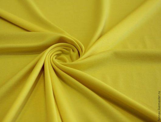 Шитье ручной работы. Ярмарка Мастеров - ручная работа. Купить Джерси. Handmade. Желтый, трикотаж, джерси, трикотажное платье, свитшот