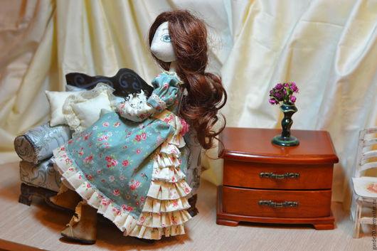 Коллекционные куклы ручной работы. Ярмарка Мастеров - ручная работа. Купить Текстильная кукла Лилу.. Handmade. Зеленый, текстильная кукла