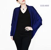Одежда handmade. Livemaster - original item Cardigan cocoon women`s blue. Handmade.