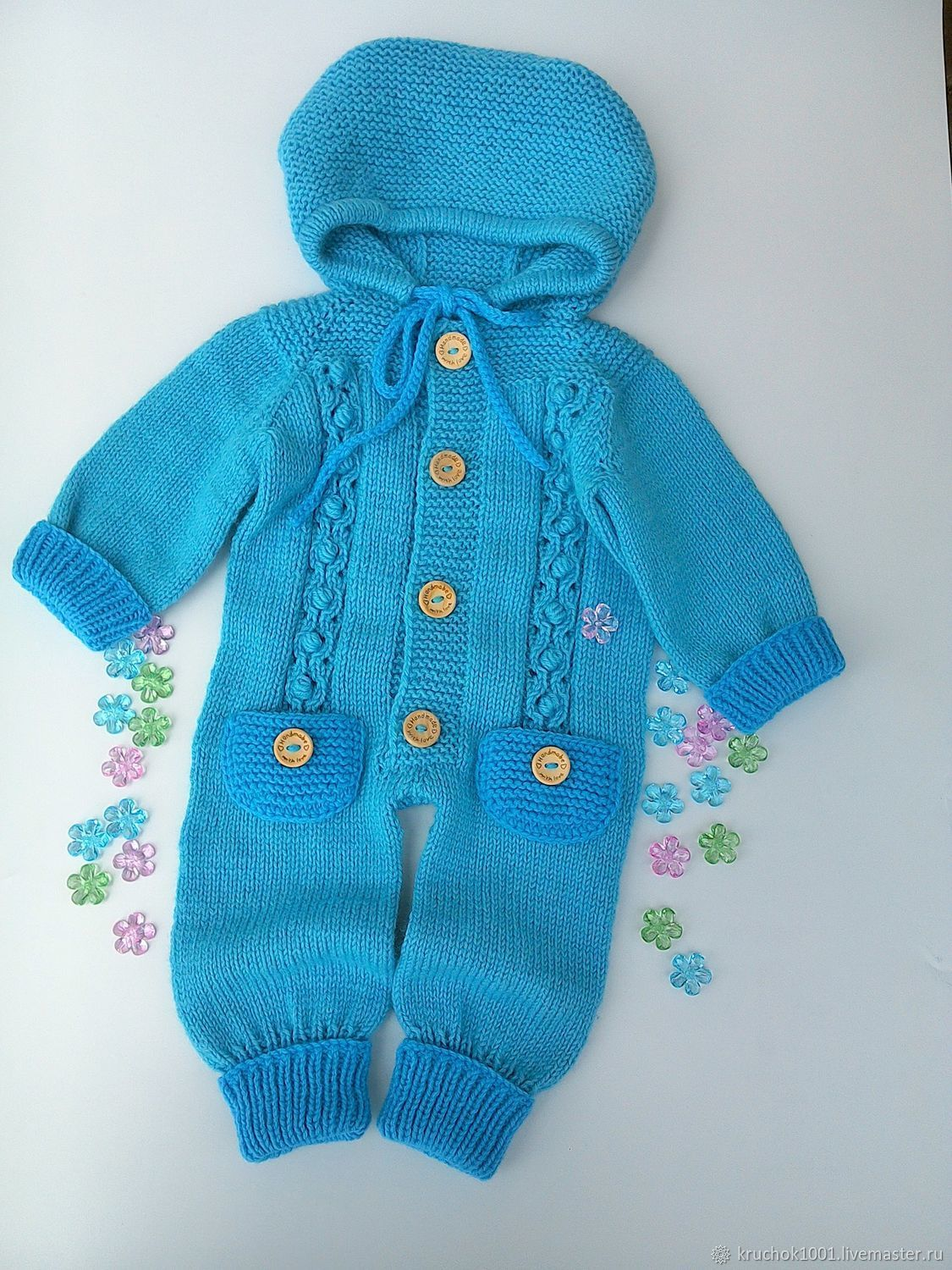 Unisex Clothing handmade. Livemaster - handmade. Buy Jumpsuit 'Olivia'.Blue, children, jumpsuit for girls, knit children