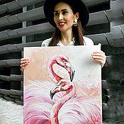 Картины ручной работы. Ярмарка Мастеров - ручная работа Картина: фламинго. Handmade.
