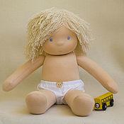 Куклы и игрушки ручной работы. Ярмарка Мастеров - ручная работа Кукла мальчик для Ренаты, 40-42 см. Handmade.