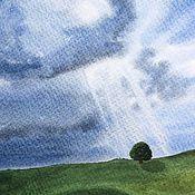 Картины и панно ручной работы. Ярмарка Мастеров - ручная работа Лучи света. Акварельный пейзаж. Handmade.