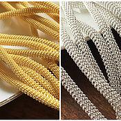 Канитель ручной работы. Ярмарка Мастеров - ручная работа Канительный шнур для вышивки, золото, серебро, канитель витая, 3 мм. Handmade.