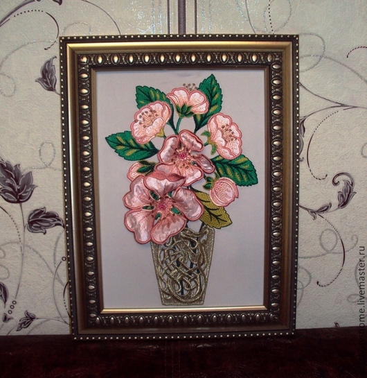 """Картины цветов ручной работы. Ярмарка Мастеров - ручная работа. Купить """" Аромат шиповника """"картина. Handmade. 3Д"""