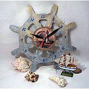 """Часы классические ручной работы. Ярмарка Мастеров - ручная работа Часы настенные  """"Морское путешествие"""", декупаж. Handmade."""