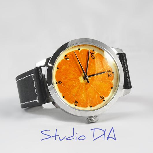 Оригинальные Дизайнерские Часы Апельсин. Студия Дизайнерских Часов DIA.