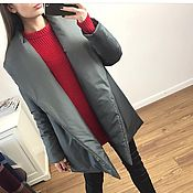 Одежда handmade. Livemaster - original item Down jacket winter grey. Handmade.