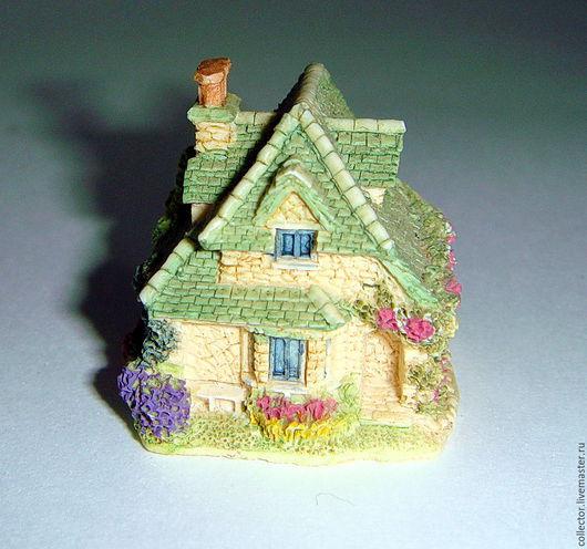 """Винтажные предметы интерьера. Ярмарка Мастеров - ручная работа. Купить Коллекционная миниатюра """"Rose cottage"""". Handmade. Комбинированный, статуэтка, для коллекционера"""