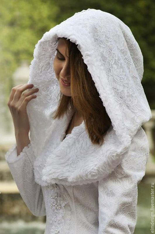 Верхняя одежда ручной работы. Ярмарка Мастеров - ручная работа. Купить Дизайнерское (свадебное ) пальто кружевное. Handmade. Однотонный