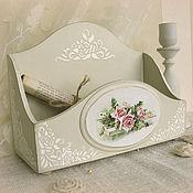 Для дома и интерьера ручной работы. Ярмарка Мастеров - ручная работа короб подставка для косметики Роза. Handmade.
