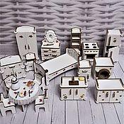 Мебель для кукол ручной работы. Ярмарка Мастеров - ручная работа Кукольная мебель. Набор.. Handmade.