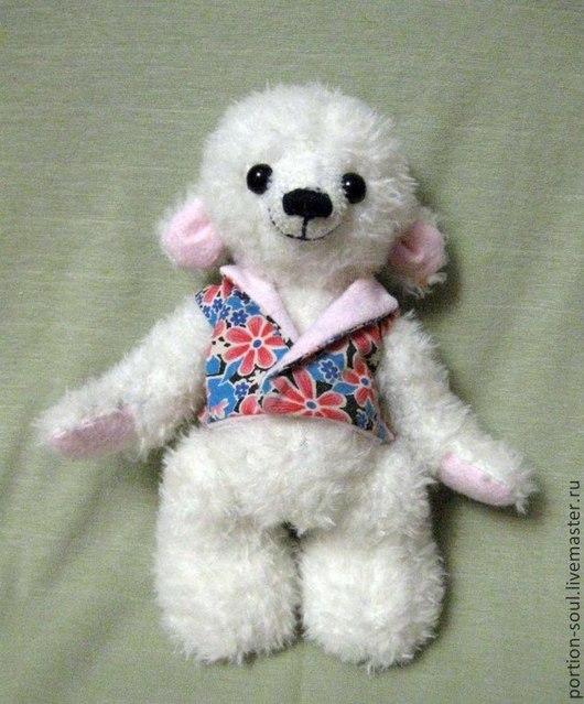 Мишки Тедди ручной работы. Ярмарка Мастеров - ручная работа. Купить Мишка Снежок. Handmade. Белый, игрушка ручной работы