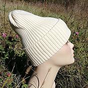 Аксессуары handmade. Livemaster - original item Knitted hat, beanie, hat, pumpkin, Merino wool. Handmade.