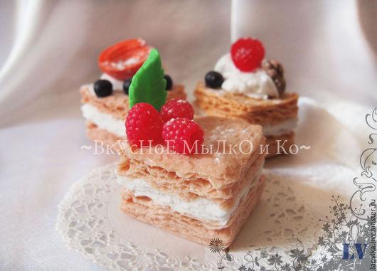 """Мыло ручной работы. Ярмарка Мастеров - ручная работа. Купить Мыло для рук """"Торт Наполеон"""". Handmade. Пироженое, еда"""