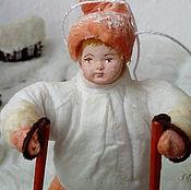 Подарки к праздникам ручной работы. Ярмарка Мастеров - ручная работа Ватная елочная игрушка СПОРТСМЕН ЕВГЕША. Handmade.