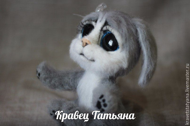 Animal Toys handmade. Livemaster - handmade. Buy Copyright felted toy handmade Bunny Susie.Handmade, felting wool