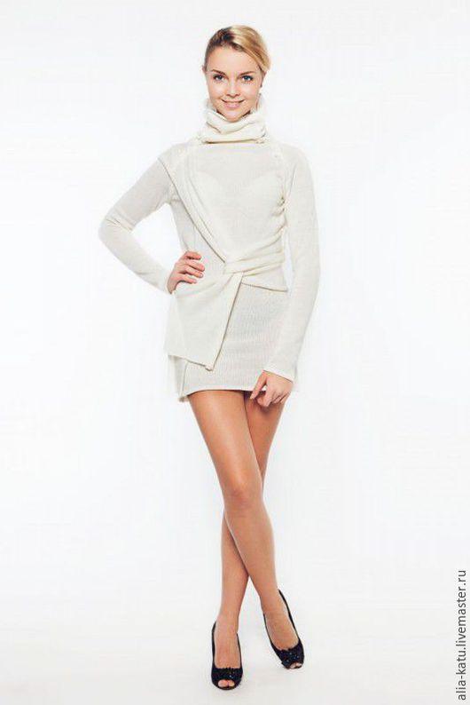 """Платья ручной работы. Ярмарка Мастеров - ручная работа. Купить Платье """"Амазонка"""". Handmade. Белый, вязаное платье"""