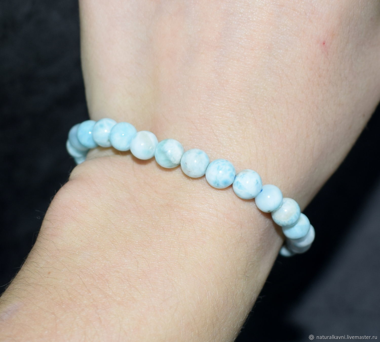 Bracelet natural stone larimar, Bead bracelet, Moscow,  Фото №1