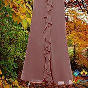 """Одежда ручной работы. Ярмарка Мастеров - ручная работа юбка с воланом шифоновая """"Шоколадные сливки"""". Handmade."""