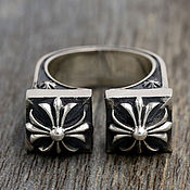 Украшения handmade. Livemaster - original item Ring with crosses made of silver 925. Handmade.
