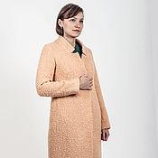 Одежда ручной работы. Ярмарка Мастеров - ручная работа Пальто классическое персиковое. Handmade.