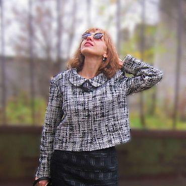 """Одежда ручной работы. Ярмарка Мастеров - ручная работа Жакет из шерсти """"Демисезон"""". Handmade."""