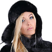 Аксессуары handmade. Livemaster - original item Real mink fur hat
