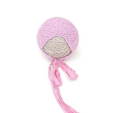 Работы для детей, ручной работы. Ярмарка Мастеров - ручная работа Розовая ажурная шапочка для фотосессии новорожденных. Handmade.