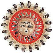 """Для дома и интерьера ручной работы. Ярмарка Мастеров - ручная работа Зеркало """"Солнце"""" 40 см. Handmade."""